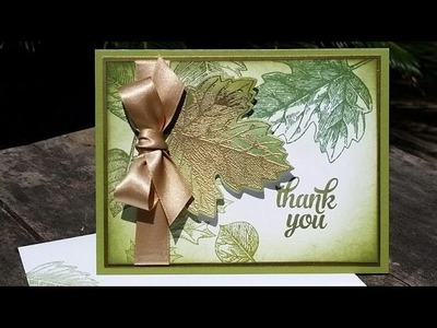 Embossed and Sponged Fall Card