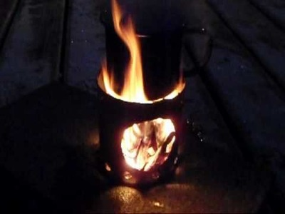 Hobo stove for less than a dollar!