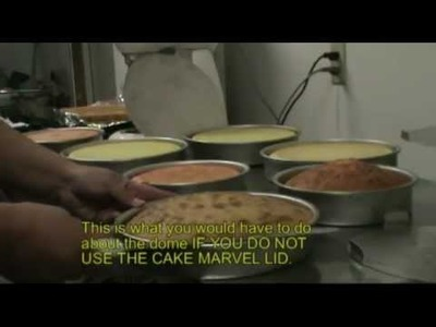 How to bake a perfect flat top level cake with the Cake Marvel Cake Pan Lid