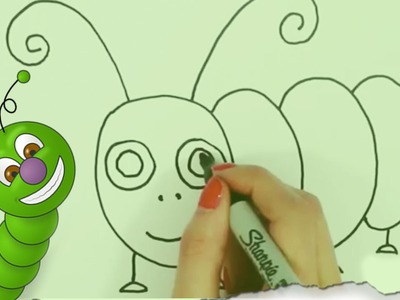 How to Draw a Caterpillar by HooplaKidz Doodle | Drawing Tutorial