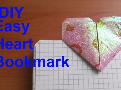 How to Fold Easy Origami Heart Bookmark. Back to School Crafts with  Paper