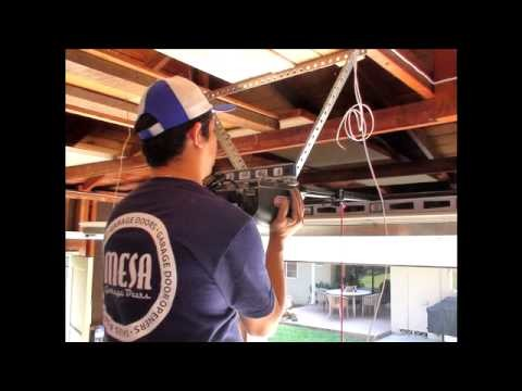 How to install a Garage Door From start to finish.