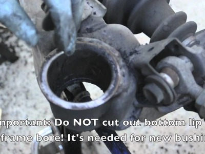 How to Install New Subframe Bushings (240sx)