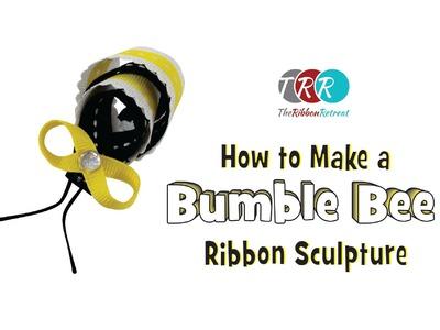 How to Make a Bumble Bee Ribbon Sculpture - TheRibbonRetreat.com