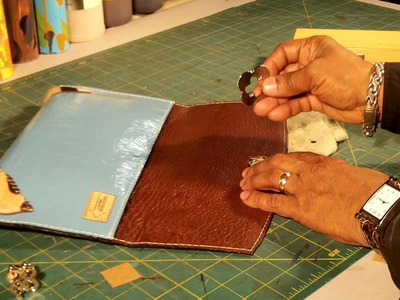 How To Make A Leather Clutch Bag Part 5 of 5