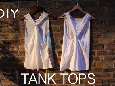 How to make a tshirt into a tank top DIY