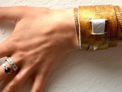 How To Make An Easy Leather Bracelet - DIY Style Tutorial - Guidecentral