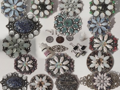How to make Brooches & Embellishments using Crystal Glass Gems