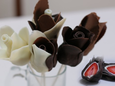How to Make Chocolate Strawberry Roses for Cheap