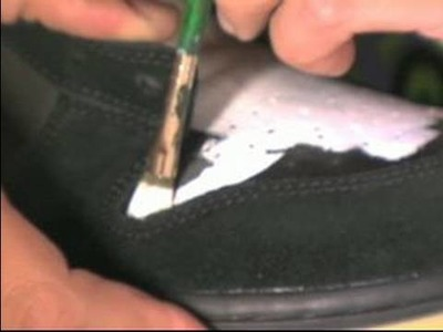 How to Paint & Decorate Sneakers : Applying the First Layer of Paint: Custom Sneakers