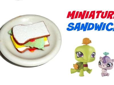 Miniature Sandwich - DIY LPS Crafts & Doll Crafts