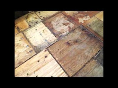 Our DIY Pallet-Wood Floor Cost Only $