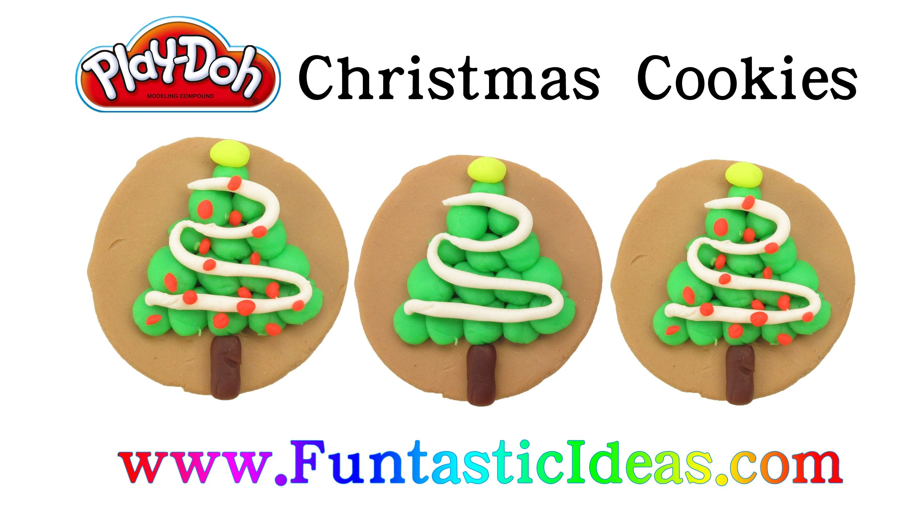 Play Doh Christmas Cookies - How to with playdough