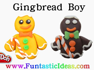 Play Doh Gingerbread Man.Boy - How to with playdough.Holiday