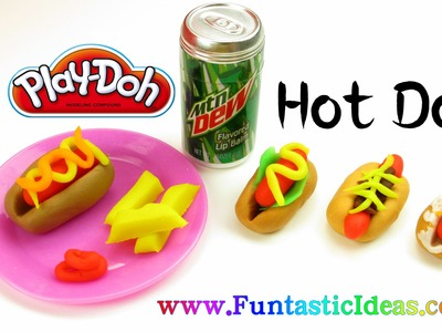 Play Doh Hot Dog Fast Food- How to by Funtastic Ideas
