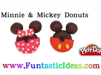 Play Doh Mickey and Minnie Donuts - How to tutorial with Playdough