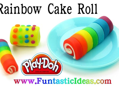 Play Doh Rainbow Cake Roll. Cake Roll - How to with playdough