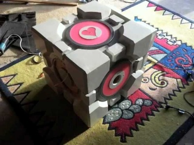 Portal 2 Homemade Weighted Companion Cube Subwoofer Mod