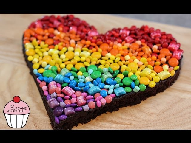 RAINBOW Chocolate Brownies - The BEST Chocolate Brownie Recipe EVER | My Cupcake Addiction
