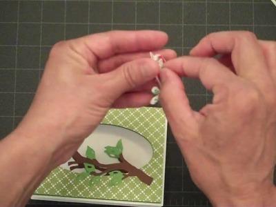Shadow Box Bird Card-Don Juan Cricut Cartridge & Home Decore