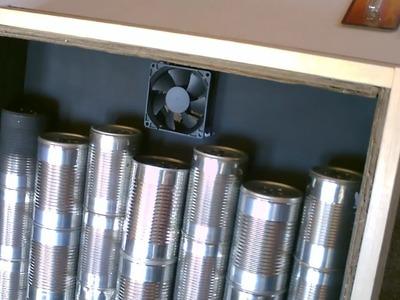 Solar Air Heater DIY - Homemade STEEL CAN Air Heater! - Quickview w.closeups