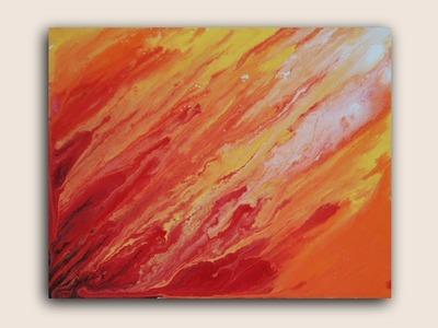 Solar Flares: Acrylic Painting on Canvas