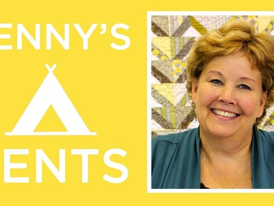 The Jenny's Tents Quilt: Easy Quilting Tutorial with Jenny Doan of Missouri Star Quilt Co