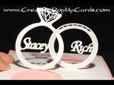 Wedding Pop Up Card Linked Rings