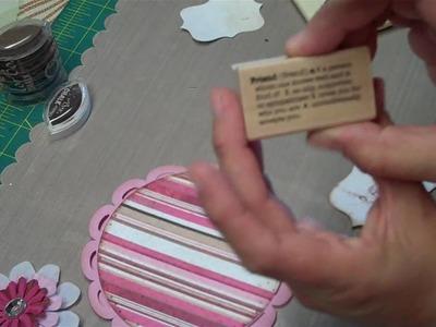 """YOLIEBEAN AND A CARD USING THE """"WILD CARD"""" CRICUT CARTRIDGE"""