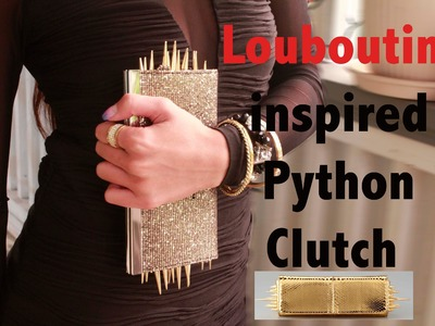 Christian Louboutin inspired Spiked clutch