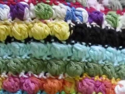 Crochet Bobble Blanket with Pattern