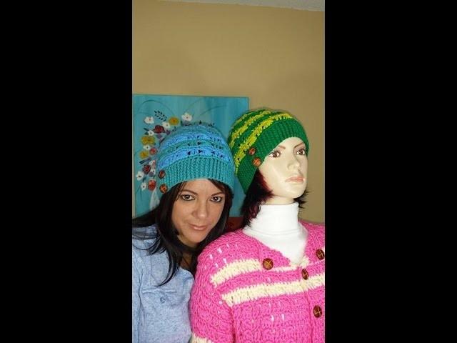 Crochet Gorro De Dos Colores  Bien Facil