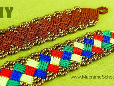 DIY Beaded Macramé Square Bracelet [Tutorial]
