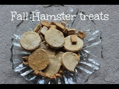DIY FALL HAMSTER TREATS!
