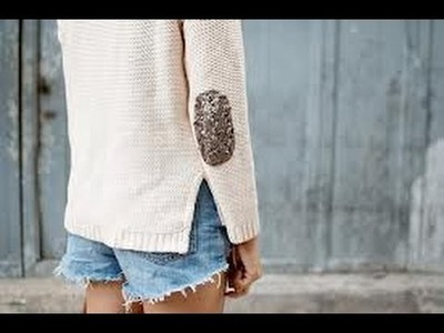 DIY: Glitter Elbow Patches!