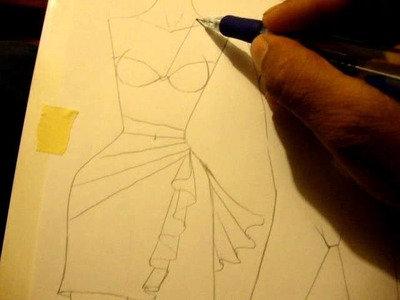 Fashion illustration dresses and skirt