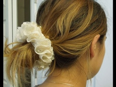 Hair Scrunchie Pony Tail Holder Sewing Tutorial