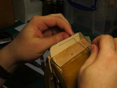 Hand and Sew: Saddle stitching the Simple Leather Wallet
