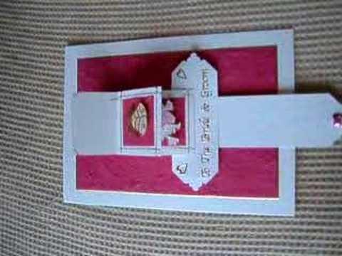 Handmade Waterfall Card Wedding