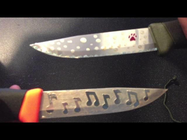 How to acid etch a knife