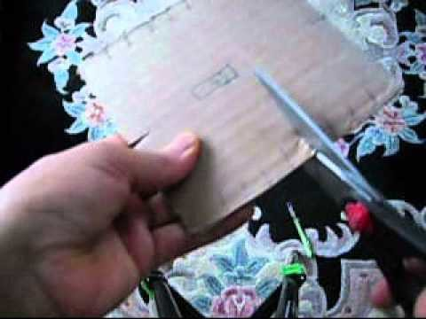 How To Cut Cardboard Square To Make A Bracelet.