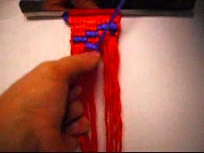 How To Make A Alpha Friendship Bracelet With The Letter.W