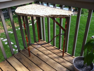 How to make a copper table with a granite top