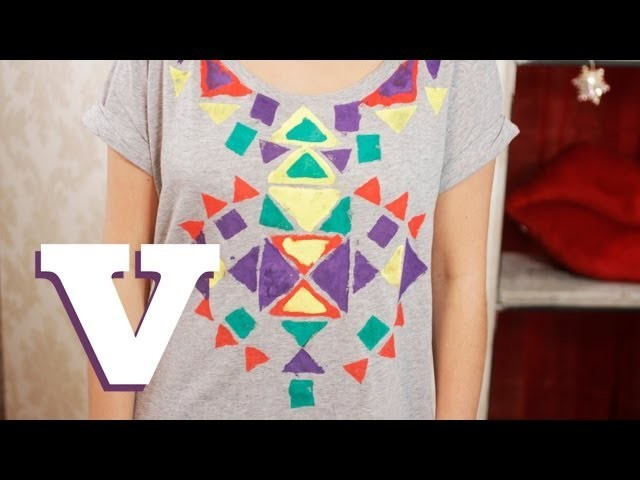 How To Make A DIY Aztec Print T-Shirt: Fix Up Look Sharp - S01E6.8