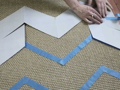 How to Make a Hand Painted Chevron Rug