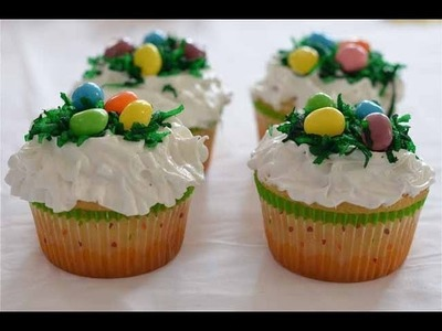 How to make Easter basket inspired bird's nest cupcakes! | Nik Scott
