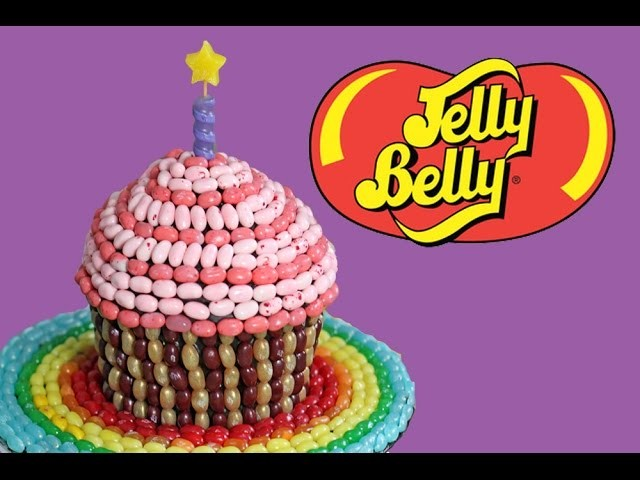 JELLY BELLY Cupcake! How to make GIANT Candy Cupcakes | My Cupcake Addiction