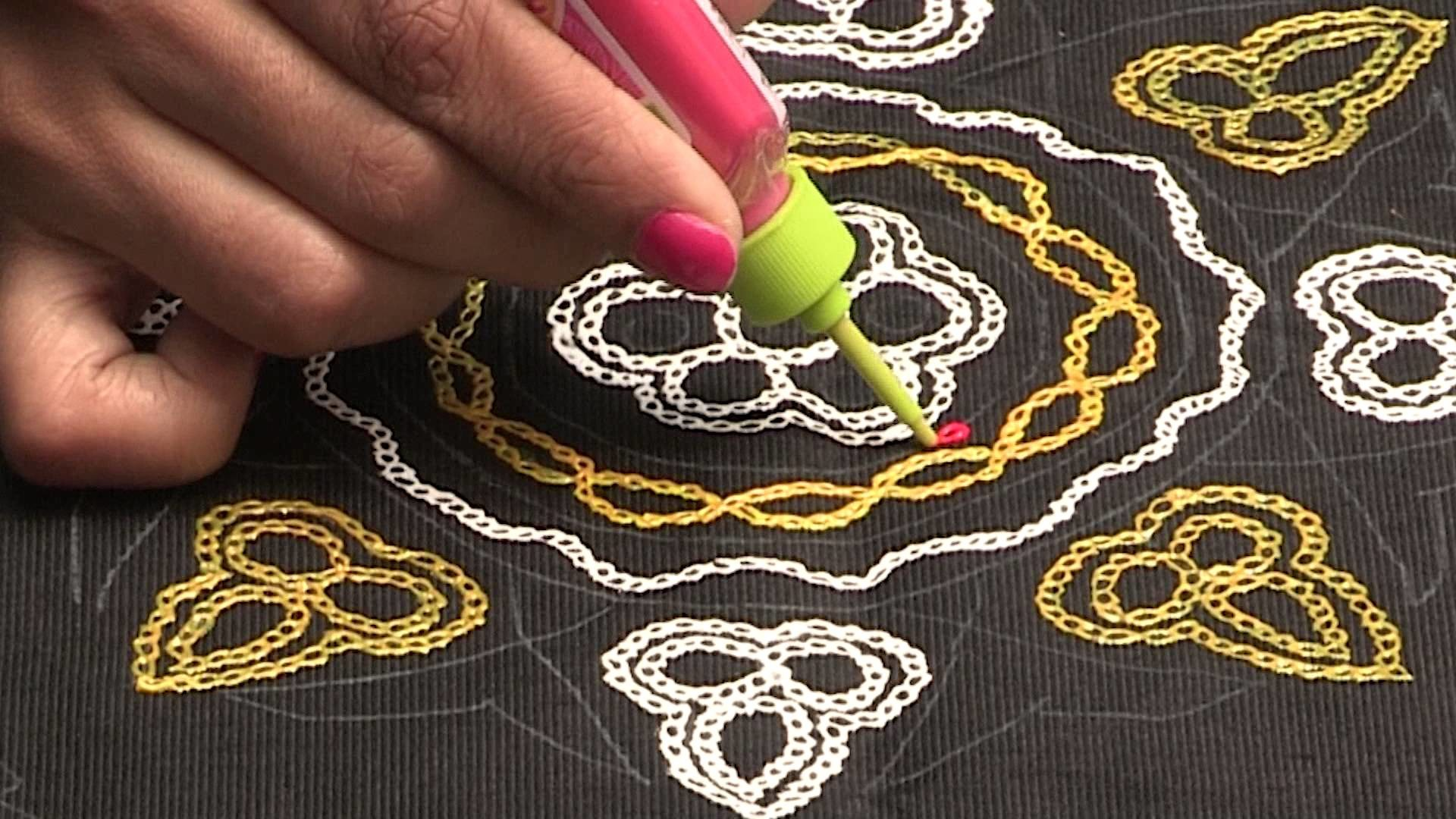 Liquid embroidery aari work butta design my crafts and