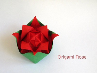 Origami Nested Rose