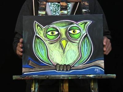 OWL PAINTING by RAEART